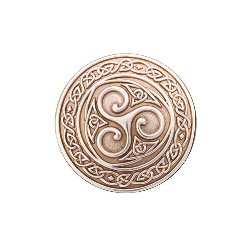 Lee River Old Silver Snap-On Belt Buckle With Celtic Knot Triskle Design