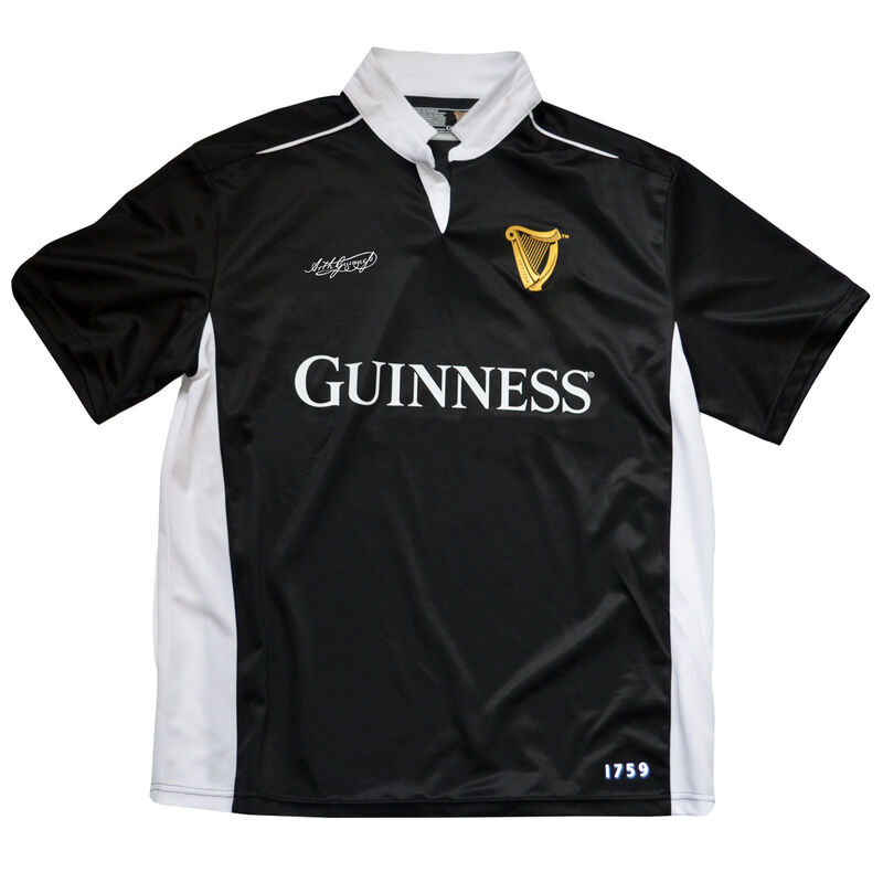 Black And White Guinness Performance Short Sleeve Top