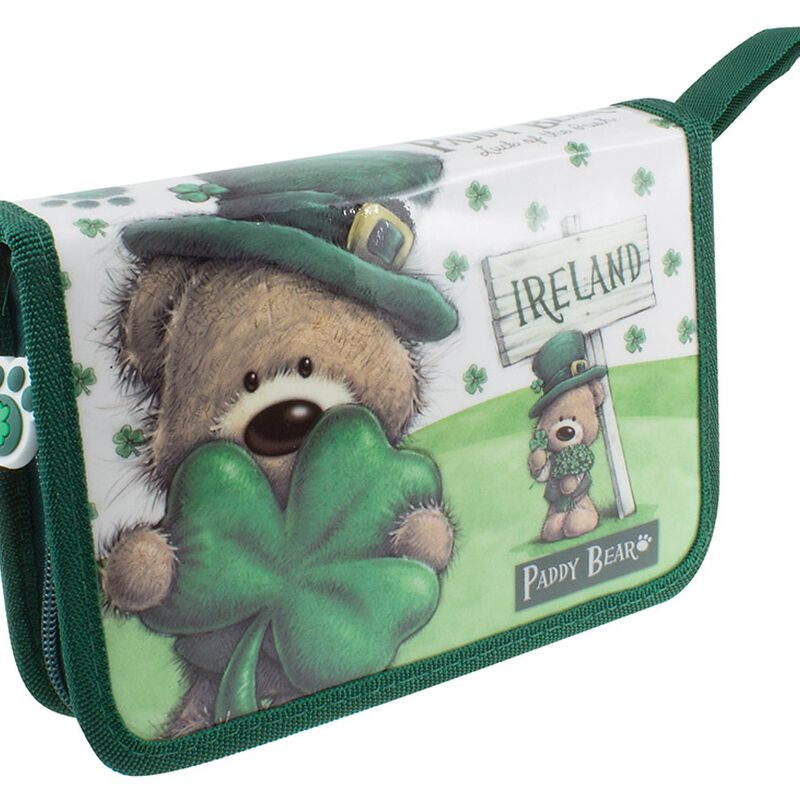 Paddy Bear Irish Designed Pencil Case  Stationery Included