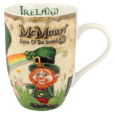 McMurfy Luck O' The Irish Leprechaun Designed Tulip Mug