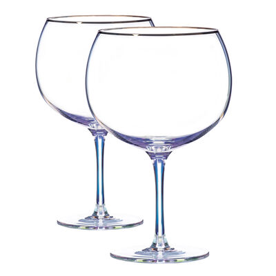 Newgrange Living Unicorn Lustre Gin Glasses, Set of 2