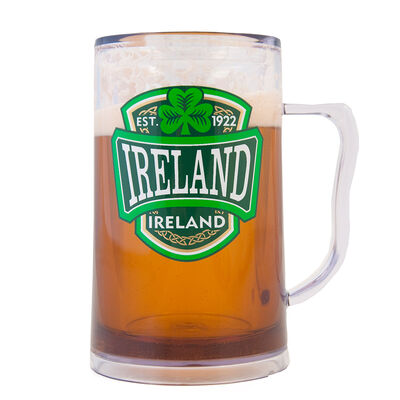 Plastic Freezer Tankard With Ireland Varsity Crest
