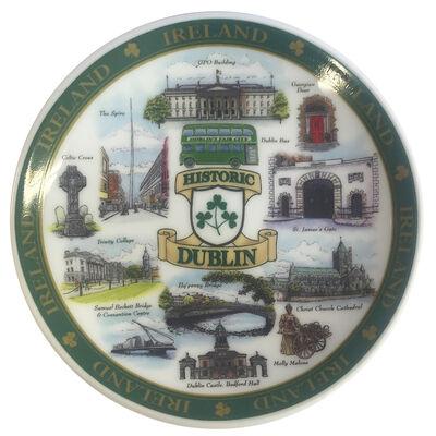 Dublin Designed Ceramic 10Cm Plate Of Famous And Historic Landmarks