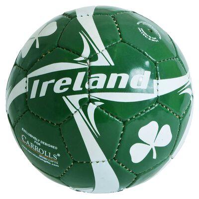 Ireland Designed Soccer Ball With White Shamrock Design  Size 2