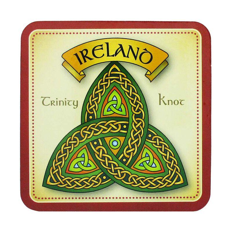 Irish Celtic Coaster With Trinity Knot Design And Ireland Text