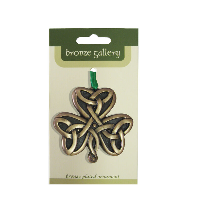 Bronze Plated Hanging Ornament  Trinity Shamrock Design