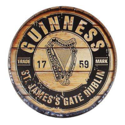 Guinness Official Merchandise Barrell Designed Coaster With Guinness Label