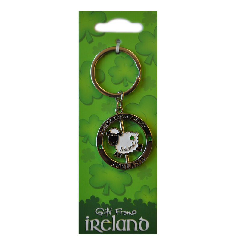 Lucky Irish Sheep Spinner Keychain