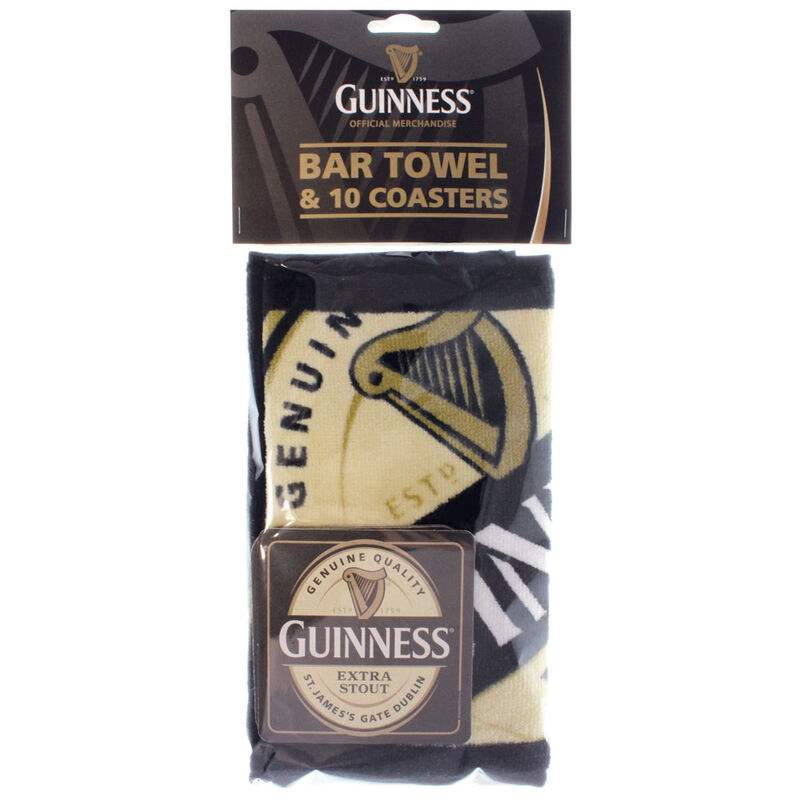 Guinness Bar Towel And Coaster Pack