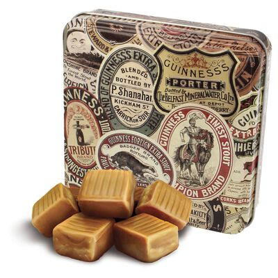 Official Guinness Retro Fudge Tin With Guinness Archive Label Design  100G