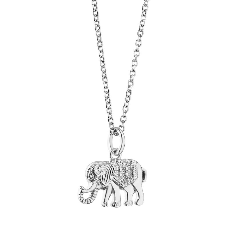 Silver Plated Amy Huberman Newbridge Silverware Elephant Pendant
