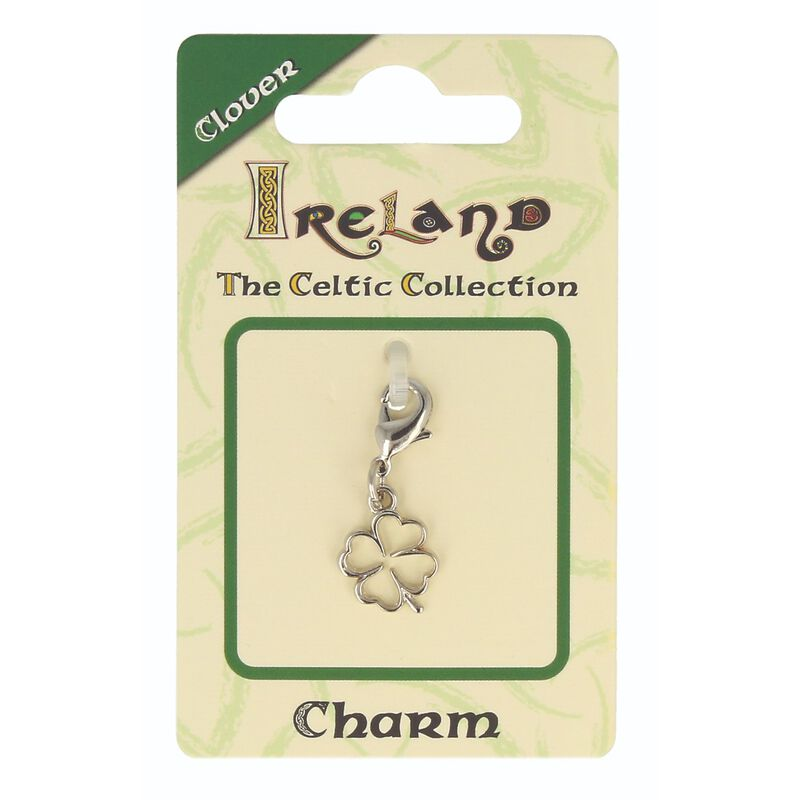 Celtic Collection Small Metal 4-Leaf Clover Charm