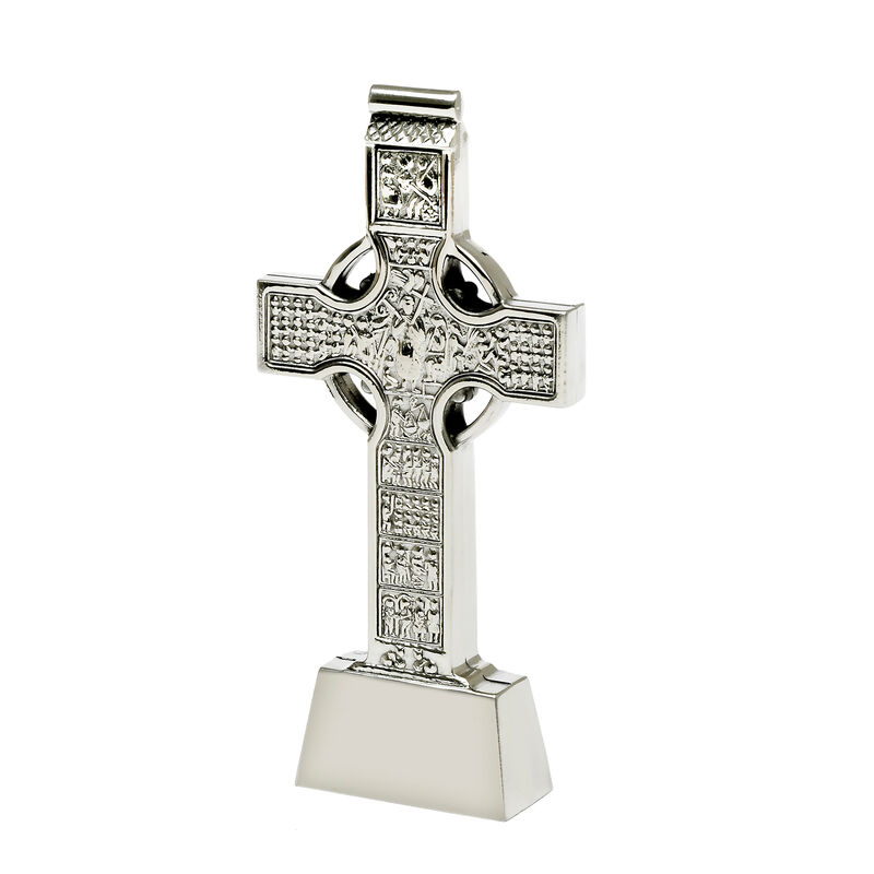 Mullingar Pewter Muiredach Standing Cross With Embossed Design