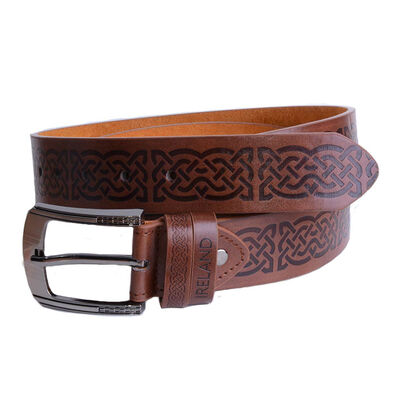 Brown Belt With Celtic Symbols