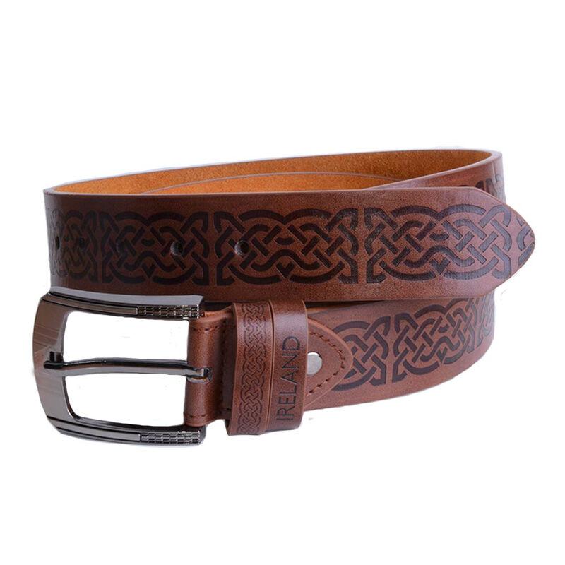 Brown Belt With Celtic Symbols
