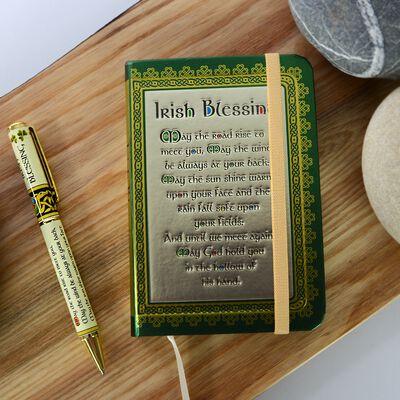 Irish Blessing Designed Notebook and Pen Set