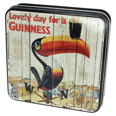 Guinness Fudge in Geschenkdose verziert mit Tukan und Wetterfahne  100g