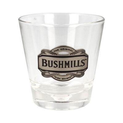 Whiskey Glass With Pewter Designed Bushmills Logo
