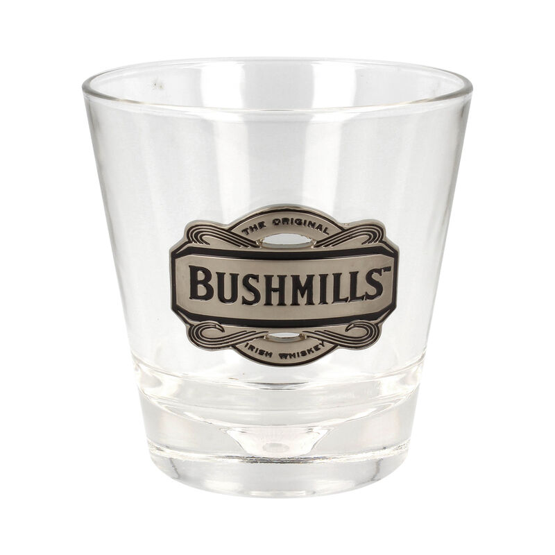 Whiskey Glass With Pewter Designed Bushmills Logo