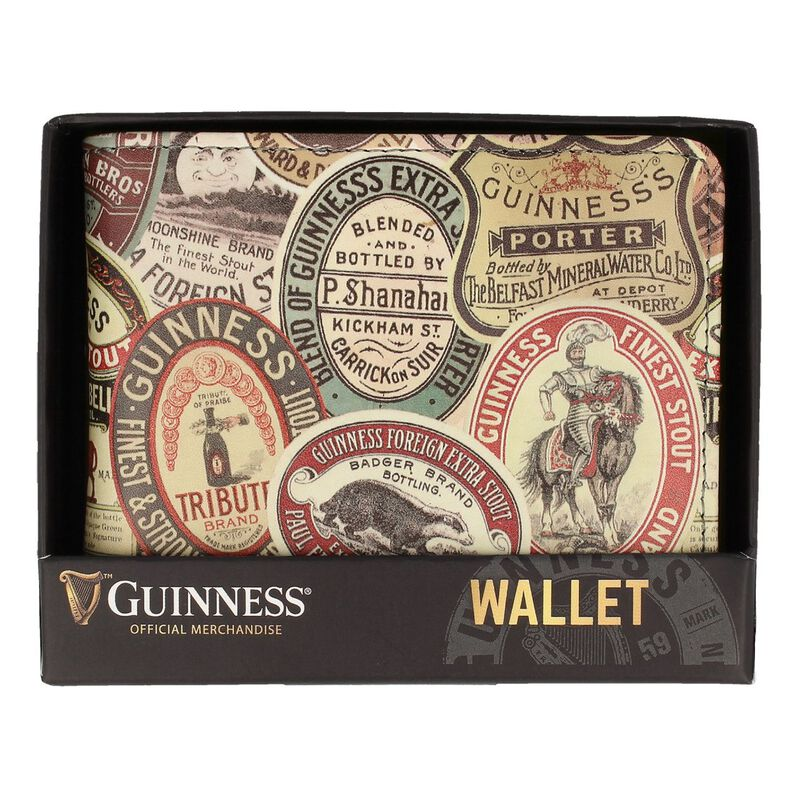 Guinness Official Merchandise Wallet With Guinness Archive Label Design