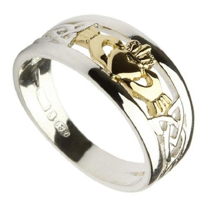 10 Carat Gold Claddagh Designed Ring