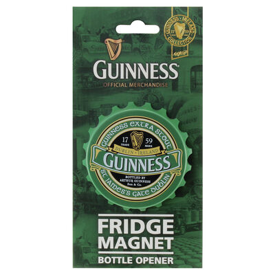 Screwcap Bottle Opener Magnet -  Guinness Ireland Collection