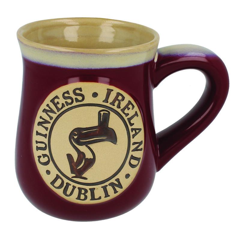 Guinness Toucan Designed Burgundy Pottery Mug