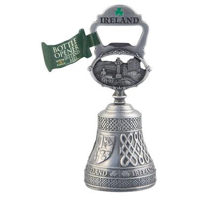 Ireland Bottle Opener Bell With Ireland Sign And Irish Symbols