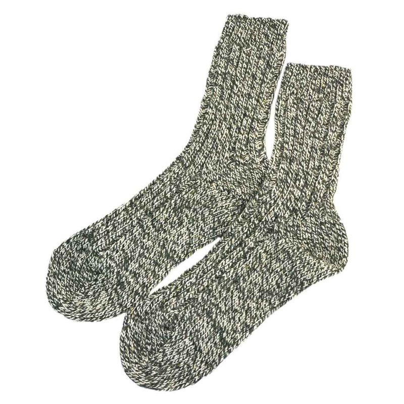 Doogan Donegal 100% Pure Wool Irish Walking Socks  Marl Green And White Colour