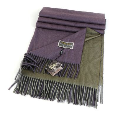 Celtic Ore Authentic Irish Two-Sided Scarf  Brown/Purple Colour