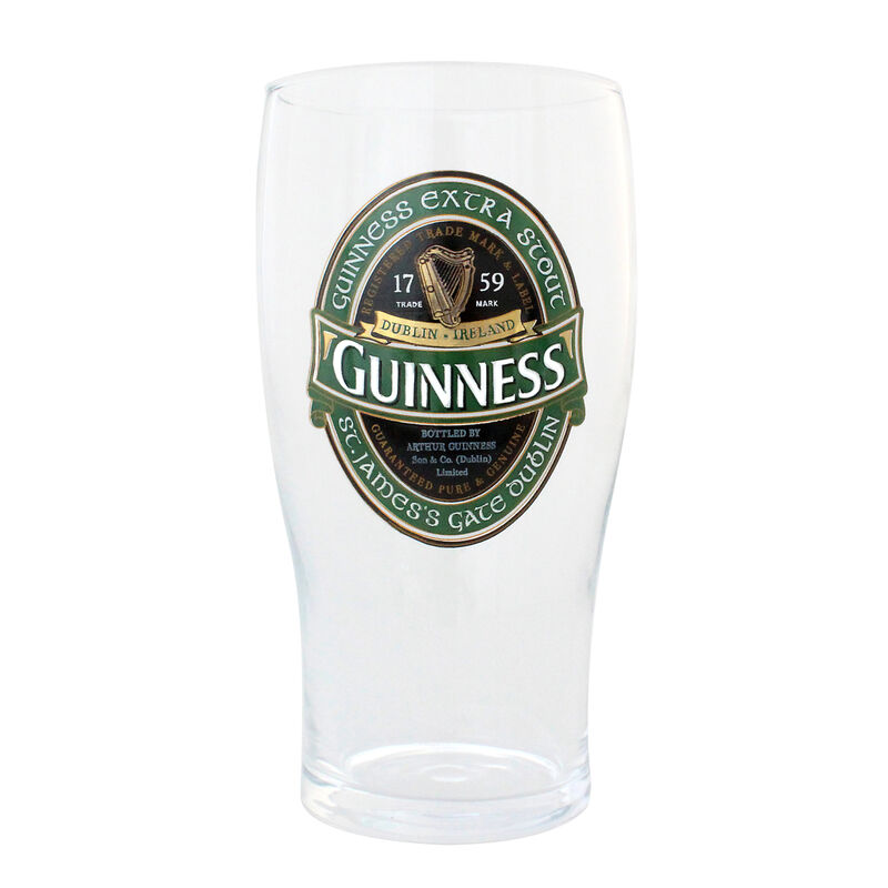 Guinness Loose Glass With Guinness Ireland Label Design