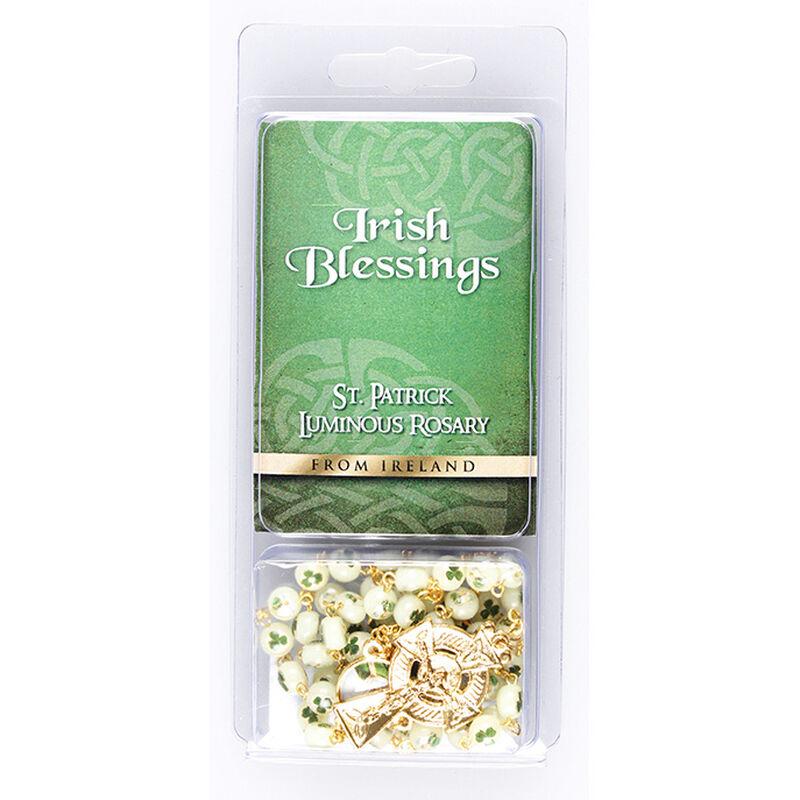 St. Patrick-Rosenkranz mit leuchtenden Perlen