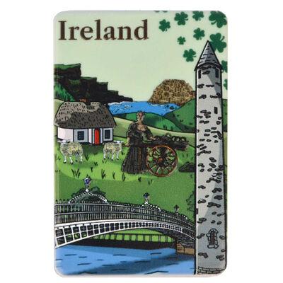 Ireland Designed Compact Mirror With Famous Irish Landmarks Design