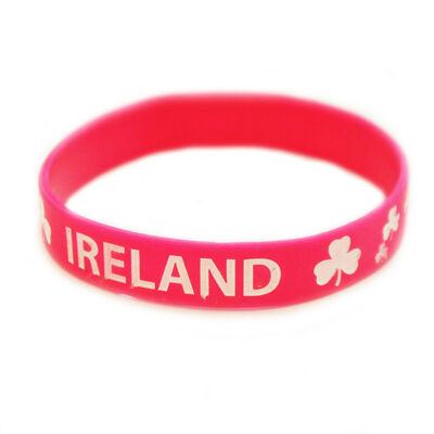 Rosa Irland Armband mit Shamrock