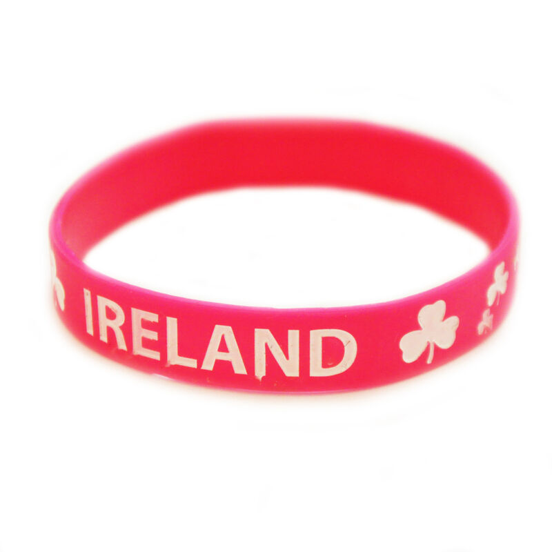 Pink Ireland Wristband With Shamrock