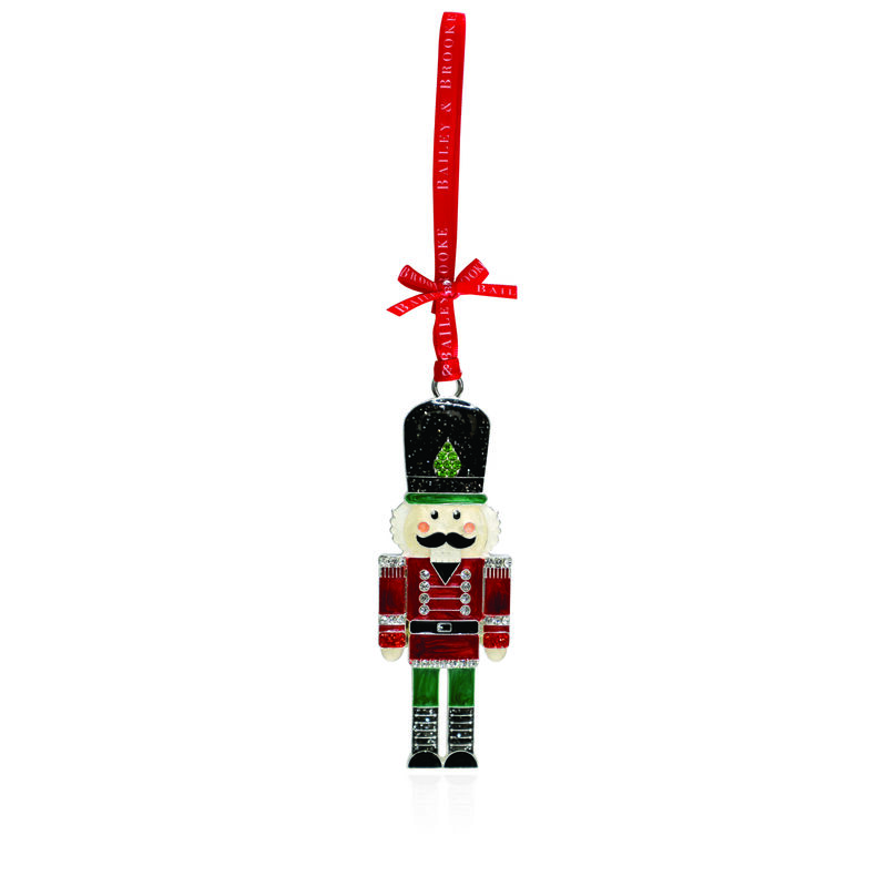 Tipperary Crystal Sparkle Nutcracker Soldier Hanging Decoration