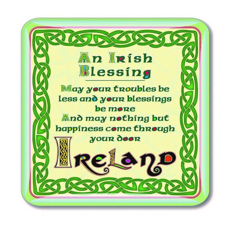 Celtic Collection Epoxy Magnet With Irish Blessing Design
