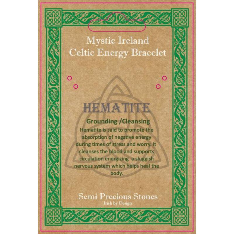 Mystic Ireland Hematite Semi Precious Stone Celtic Energy Bracelet