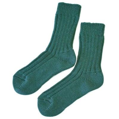 Doogan Donegal 100% Pure Wool Irish Walking Socks  Moss Green Colour