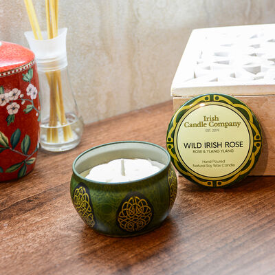 Irish Candle Company Small Wild Irish Rose Natural Soy Wax Candle
