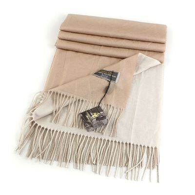 Celtic Ore Authentic Irish Two-Sided Scarf  Beige/White Colour