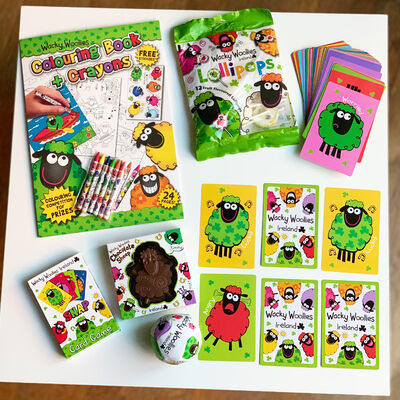 Wacky Woollies Christmas Gift Set For Kids With Games & Sweets