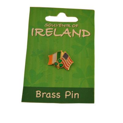 Irland und USA Flagge Anstecknadel