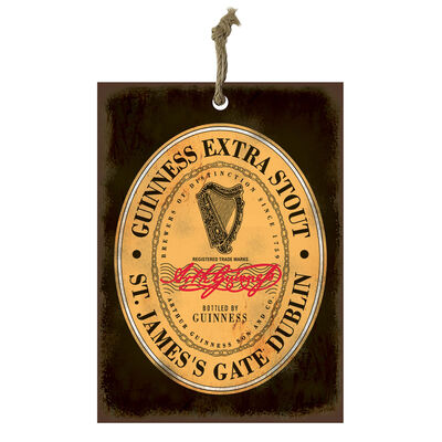 Official Guinness Mini Metal Bar Sign With Heritage Extra Stout Design