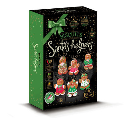 Make Your Own Biscuit Christmas Tree Decorations Santa's Helpers, Icing Pens & Twine Included, 575G