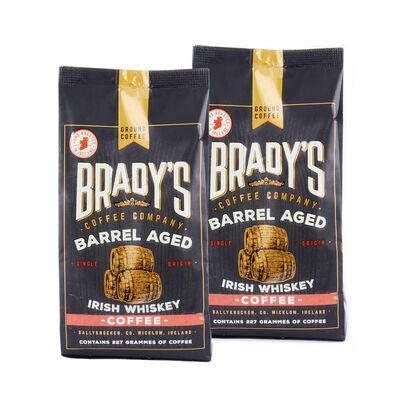 CLEARANCE - Brady's Barrel Aged Irish Whiskey Coffee, 227G (Two Pack)