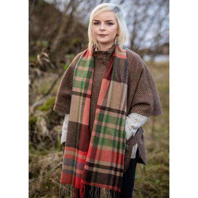 Foxford Woollen Mills Irish Charlotte'S Warp Weft Stripe Scarf