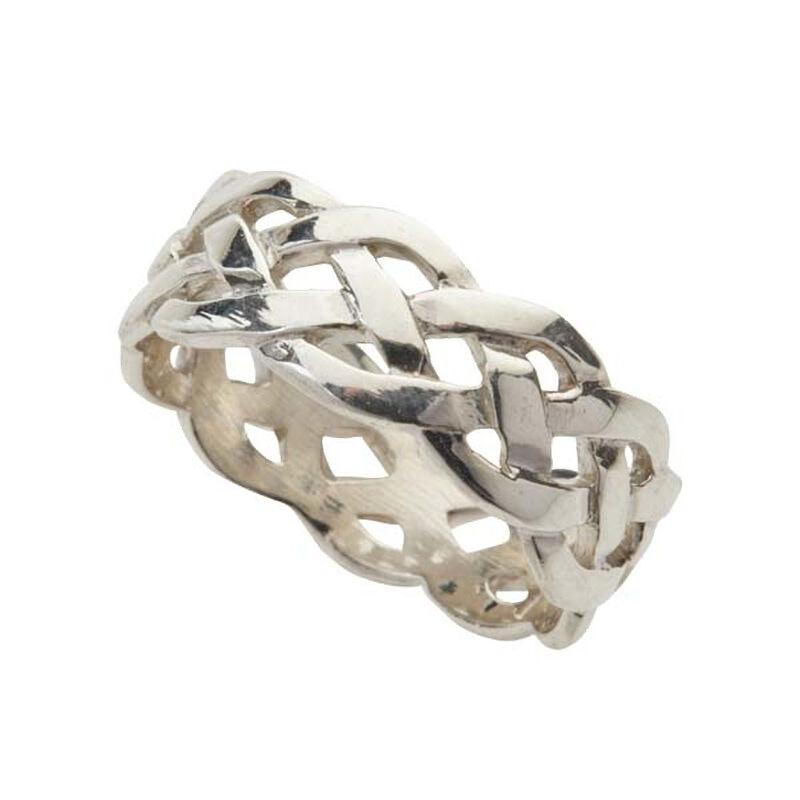 Hallmarked Sterling Silver Celtic Weave Designed Ring