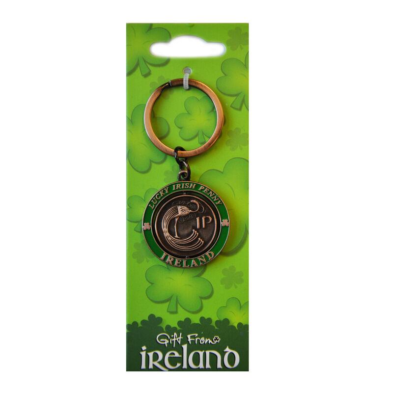 Lucky Irish Penny Spinner Keychain