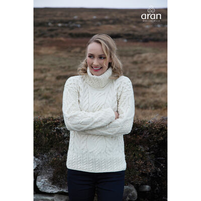 As Worn By Taylor Swift - 100% Merino Wool Ladies Chunky Sweater, Natural Colour